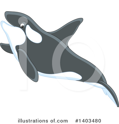 Orca Clipart #1403480 by Alex Bannykh