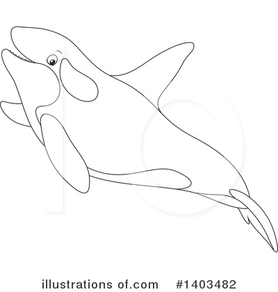 Orca Clipart #1403482 by Alex Bannykh
