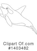 Whale Clipart #1403482 by Alex Bannykh