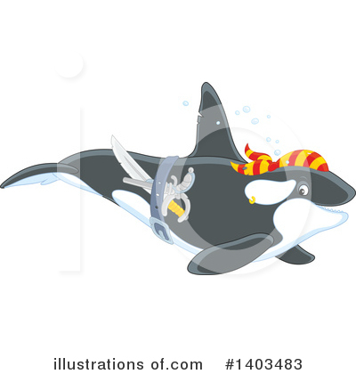 Orca Clipart #1403483 by Alex Bannykh