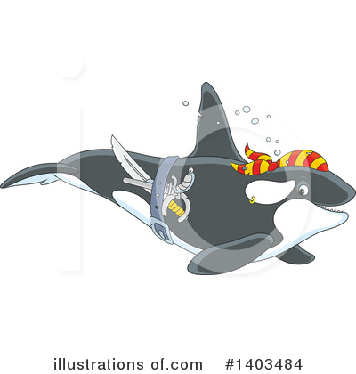 Orca Clipart #1403484 by Alex Bannykh