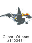 Whale Clipart #1403484 by Alex Bannykh