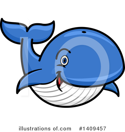 Whale Clipart #1409457 by Vector Tradition SM