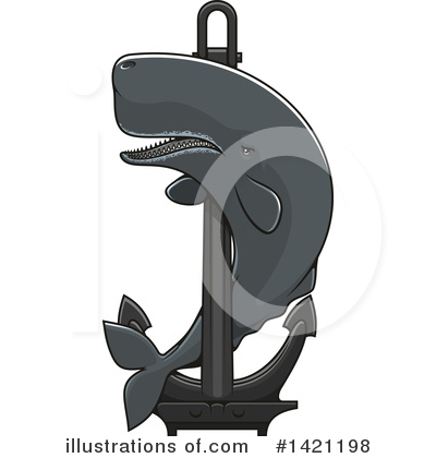 Whale Clipart #1421198 by Vector Tradition SM