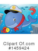 Royalty-Free (RF) Whale Clipart Illustration #1459424