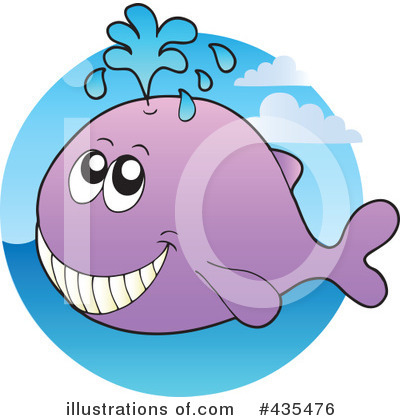 Royalty-Free (RF) Whale Clipart Illustration by visekart - Stock Sample #435476