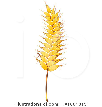 Wheat Clipart #1061015 - Illustration by Vector Tradition SM