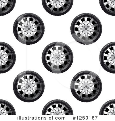 Tire Clipart #1250167 by Vector Tradition SM