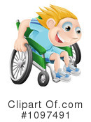 Royalty-Free (RF) Wheelchair Clipart Illustration #1097491