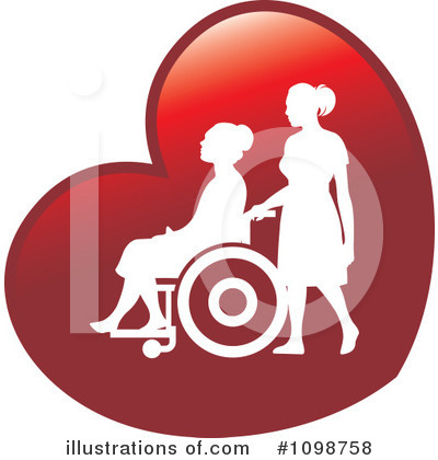 Royalty-Free (RF) Wheelchair Clipart Illustration by Lal Perera - Stock Sample #1098758