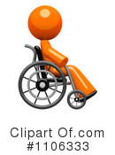 Wheelchair Clipart #1106333 by Leo Blanchette