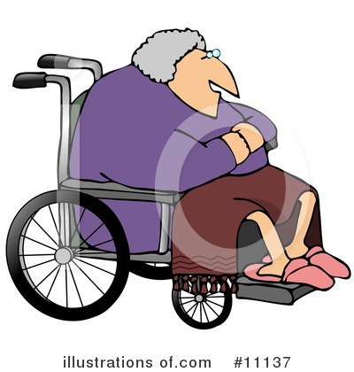 Royalty-Free (RF) Wheelchair Clipart Illustration by djart - Stock Sample #11137