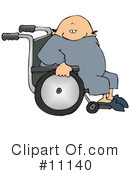 Royalty-Free (RF) Wheelchair Clipart Illustration #11140