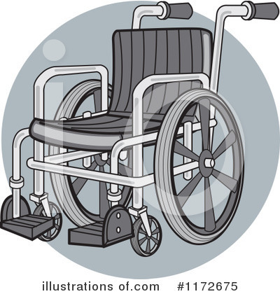 Royalty-Free (RF) Wheelchair Clipart Illustration by Andy Nortnik - Stock Sample #1172675