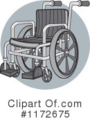 Royalty-Free (RF) Wheelchair Clipart Illustration #1172675