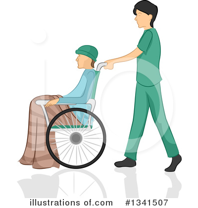 Royalty-Free (RF) Wheelchair Clipart Illustration by BNP Design Studio - Stock Sample #1341507