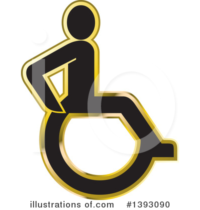 Wheelchair Clipart #1393090 by Lal Perera