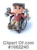 Wheelchair Clipart #1662240 by Steve Young
