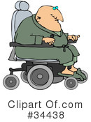 Royalty-Free (RF) Wheelchair Clipart Illustration #34438