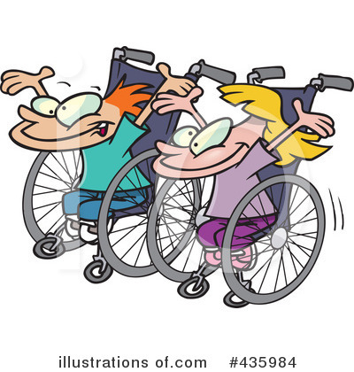Wheelchair Clipart #435984 by toonaday