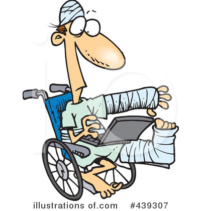 Royalty-Free (RF) Wheelchair Clipart Illustration by toonaday - Stock Sample #439307