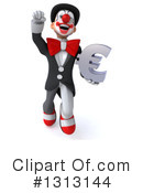 White And Black Clown Clipart #1313144 by Julos