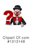 White And Black Clown Clipart #1313148 by Julos