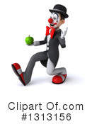 White And Black Clown Clipart #1313156 by Julos
