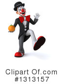 White And Black Clown Clipart #1313157 by Julos