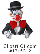White And Black Clown Clipart #1315312 by Julos