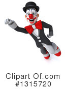 White And Black Clown Clipart #1315720 by Julos