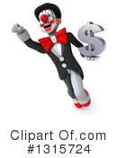 White And Black Clown Clipart #1315724 by Julos