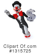 White And Black Clown Clipart #1315725 by Julos