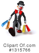 White And Black Clown Clipart #1315766 by Julos