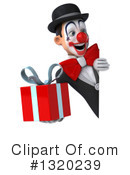 White And Black Clown Clipart #1320239 by Julos