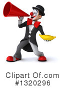 White And Black Clown Clipart #1320296 by Julos