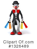 White And Black Clown Clipart #1326489 by Julos
