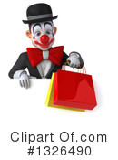 White And Black Clown Clipart #1326490 by Julos