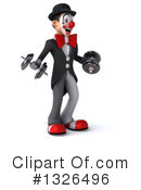 White And Black Clown Clipart #1326496 by Julos
