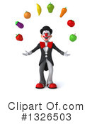 White And Black Clown Clipart #1326503 by Julos