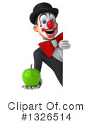 White And Black Clown Clipart #1326514 by Julos