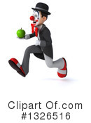 White And Black Clown Clipart #1326516 by Julos