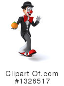 White And Black Clown Clipart #1326517 by Julos
