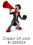 White And Black Clown Clipart #1326524 by Julos