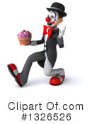 White And Black Clown Clipart #1326526 by Julos