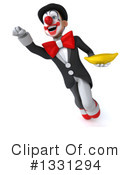 White And Black Clown Clipart #1331294 by Julos