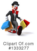 White And Black Clown Clipart #1333277 by Julos