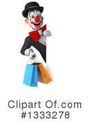 White And Black Clown Clipart #1333278 by Julos