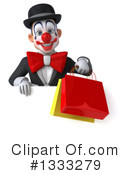 White And Black Clown Clipart #1333279 by Julos