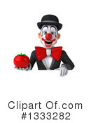 White And Black Clown Clipart #1333282 by Julos